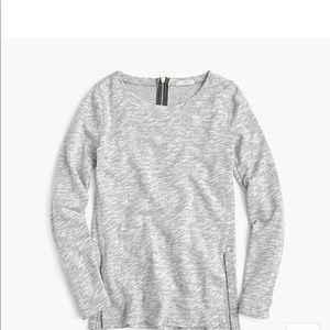 J crew sweatshirt with side slits